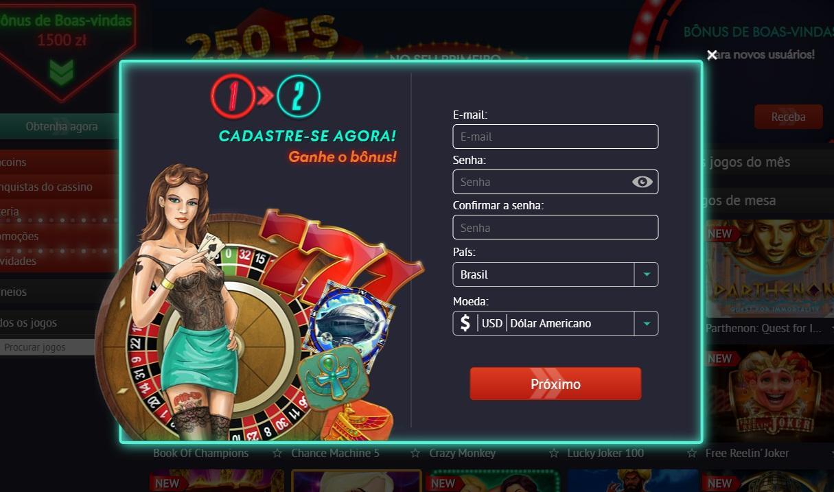 Inscrição no pin up casino