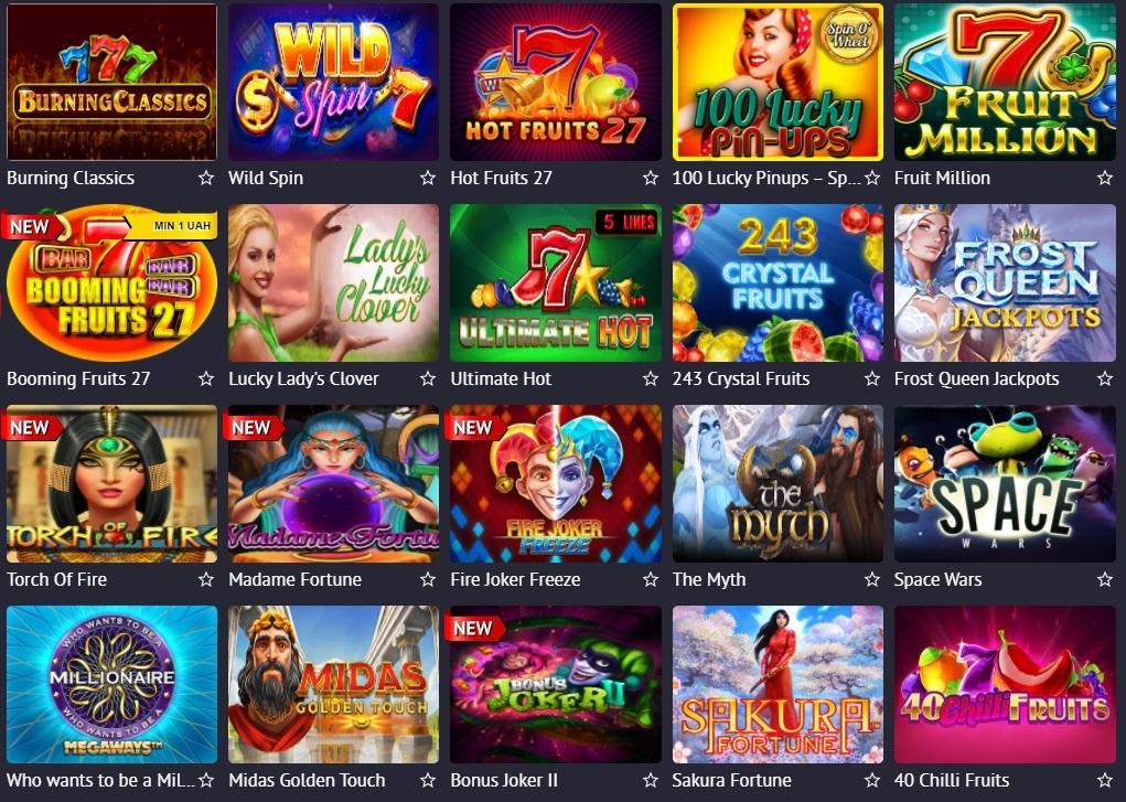 Máquinas caça-níqueis do Pin up do casino